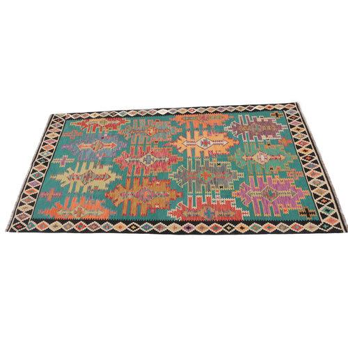 294x202 cm Handgemacht Wolle Kelim Teppich Orientteppich