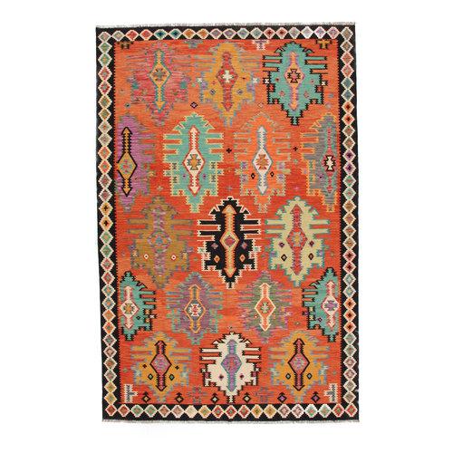 308x204 cm Handgemacht Wolle Kelim Teppich Orientteppich