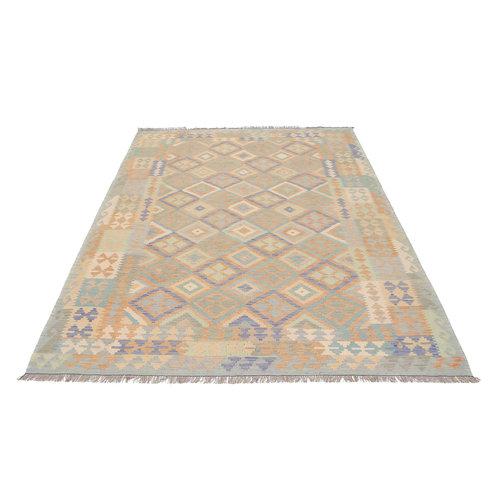 301x196 cm Handgemacht Wolle Kelim Teppich Orientteppich