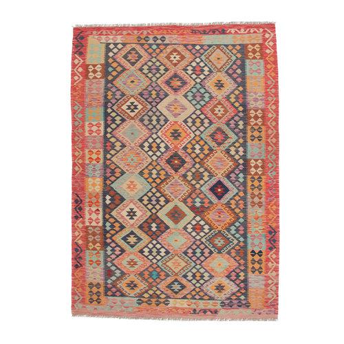 9'10x6'6 cm Handmade Afghan Kilim Rug Wool Carpet