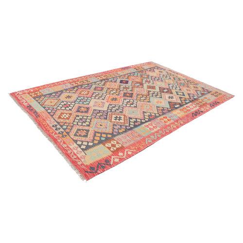 301x200 cm Handgemacht Wolle Kelim Teppich Orientteppich