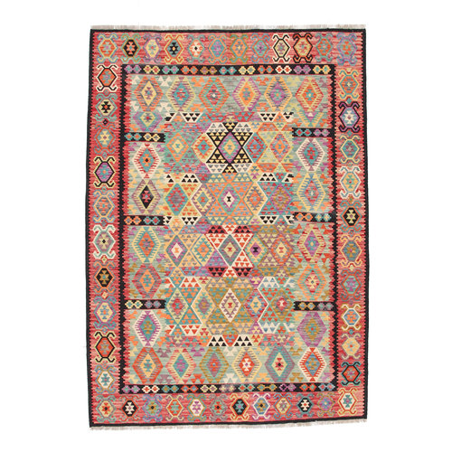 9'10x6'7 cm Handmade Afghan Kilim Area Rug Wool Carpet