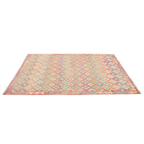 300x206 cm Handgemacht Wolle Kelim Teppich Orientteppich
