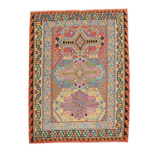 293x203 cm Handgemacht Wolle Kelim Teppich Orientteppich