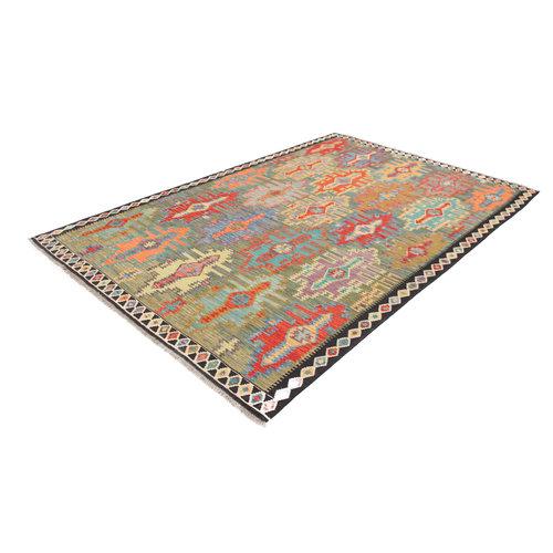 10'1x6'9 cm Handmade Afghan Kilim Area Rug Wool Carpet