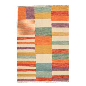 304x201 cm Handgemacht Wolle Kelim Teppich Orientteppich