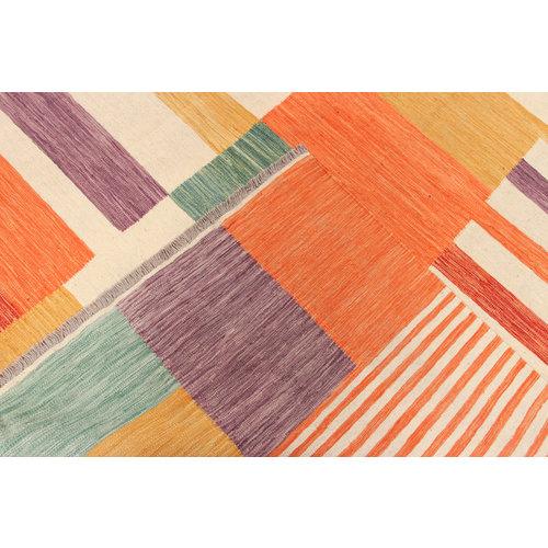 9'11x6'7 cm Handmade Afghan Kilim Area Rug Wool Carpet