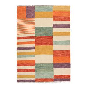 305x204 cm Handgemacht Wolle Kelim Teppich Orientteppich