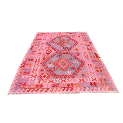 294x201 cm Handgemacht Wolle Kelim Teppich Orientteppich