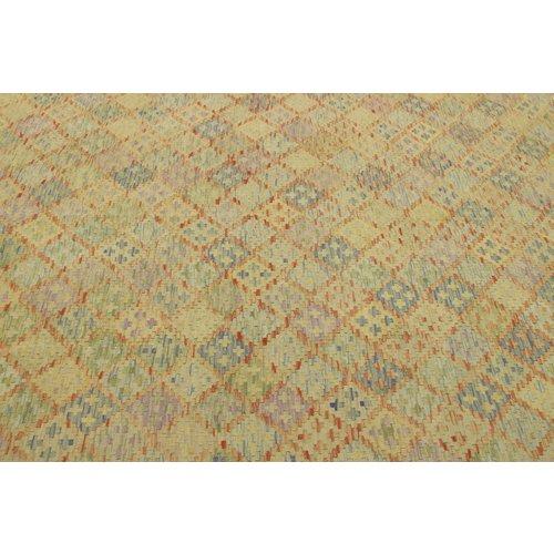300x203 cm Handgemacht Wolle Kelim Teppich Orientteppich