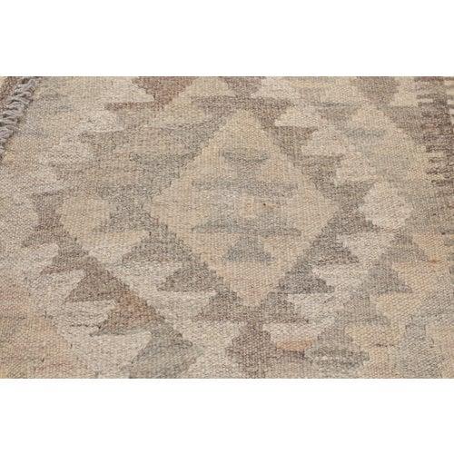 197x143 cm Handmade Afghan Kilim Rug Neutral Color Wool Carpet