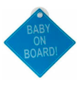Baby on board | Blauw