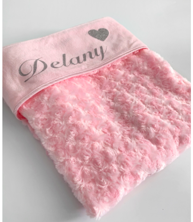 Baby deken | Naam + hartje