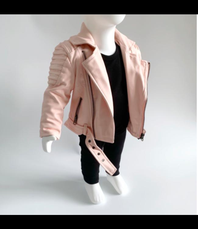 Leather jacket | Pink