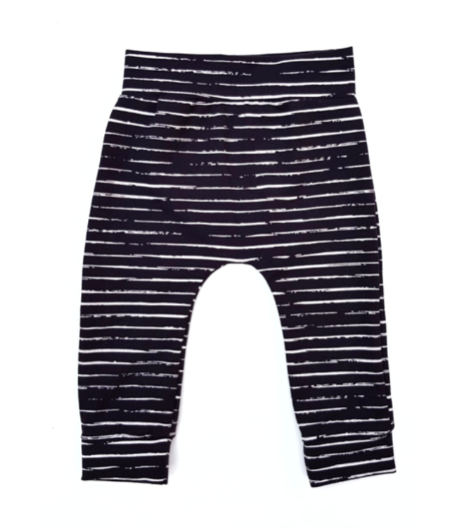 Slim Fit Broekje | Stripes Black