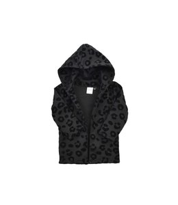 Hoodie vest | leopard black