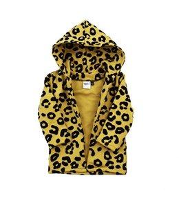Hoodie vest | leopard ochre