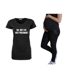 Zwangerschapsshirt | No not fat, just pregnant