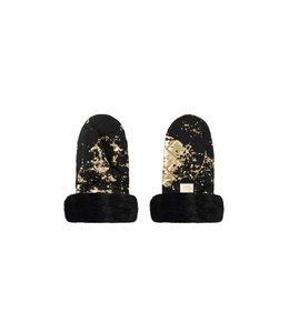 Bjällra of Sweden Luxe kinderwagen handschoenen zwart met goud