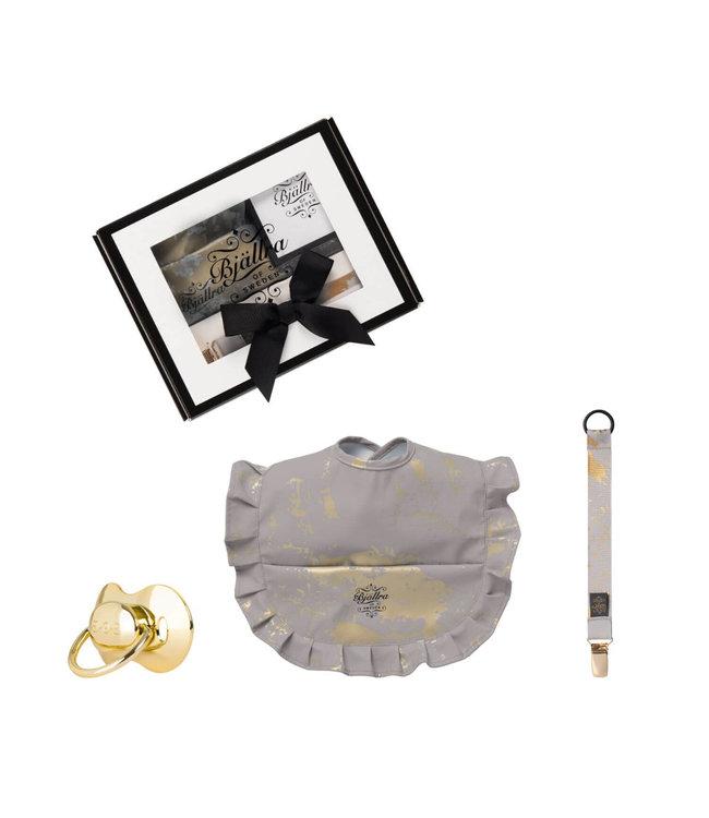 Giftbox grijs goud golden collectie Bjällra of Sweden