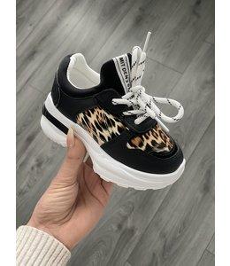 Sneaker leopard black