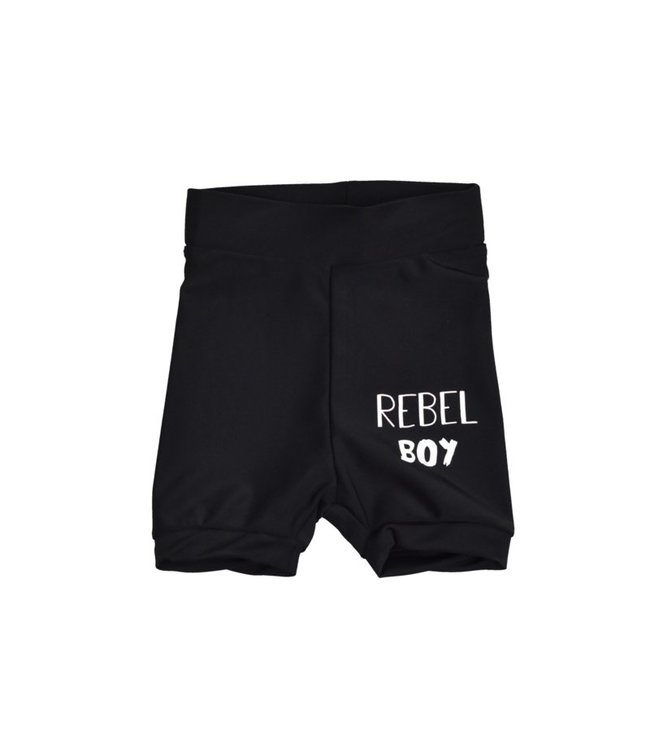 Baby zwembroekje | Black | Rebel Boy | Handmade
