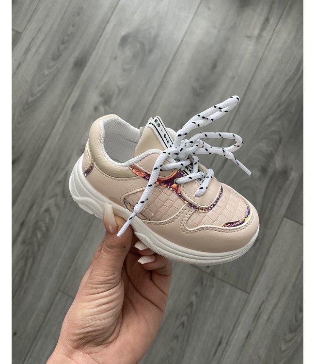Croco baby sneaker