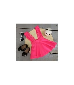 Suspender skirt stof | Neon roze