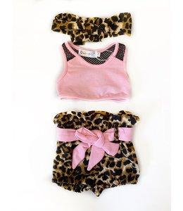 Short leopard set 80/86