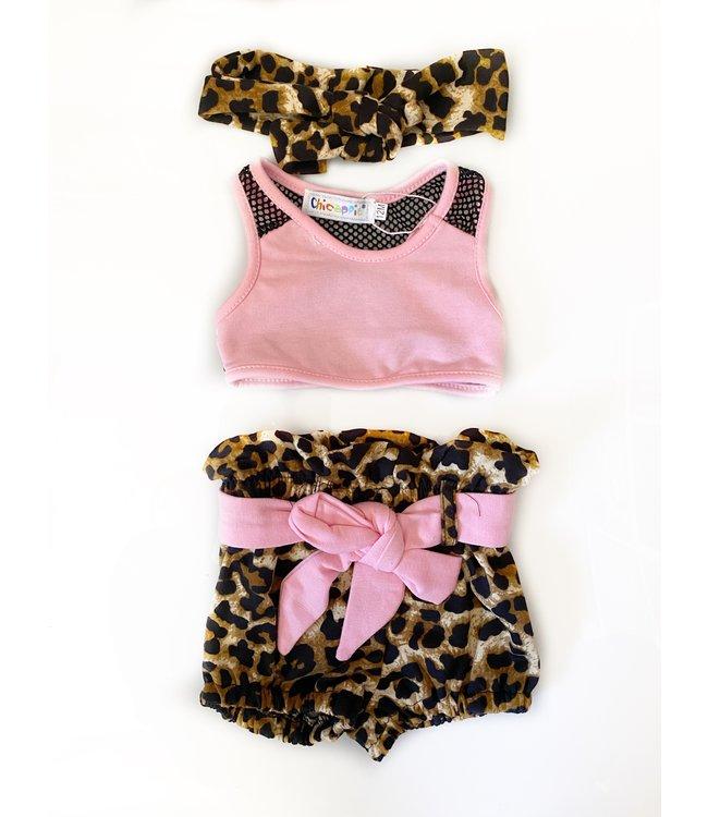 Short leopard set
