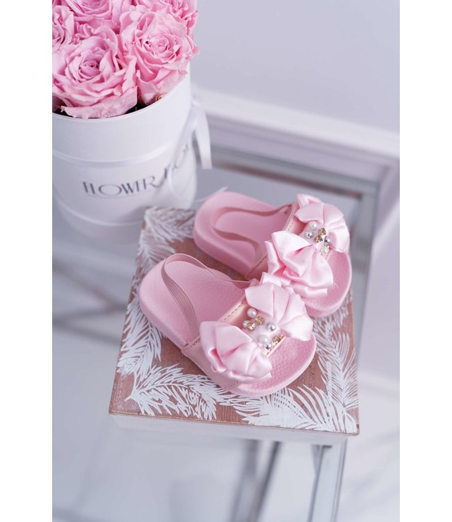 Bow slippers | Roze