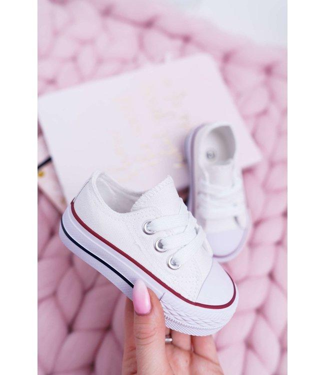 Sneaker laag : wit