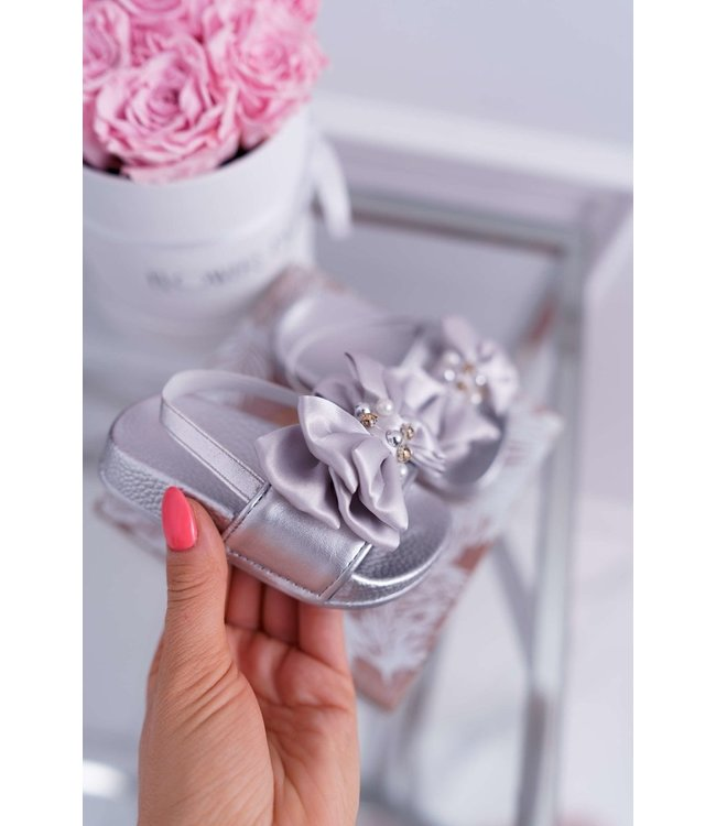 Bow slippers | zilver