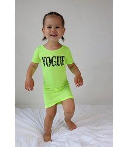 Vogue neon dress | Geel