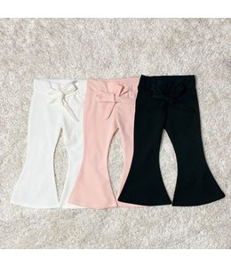 Bow flaired pants