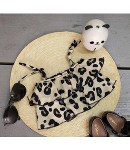 Leopard crop top | Beige
