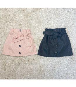 Leather bow skirt   2 kleuren