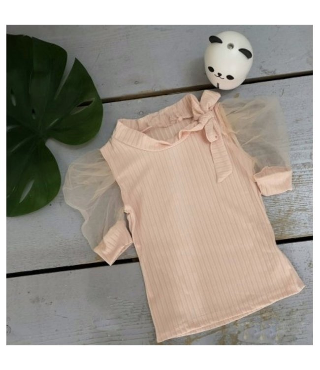 Lovely bow top | Beige