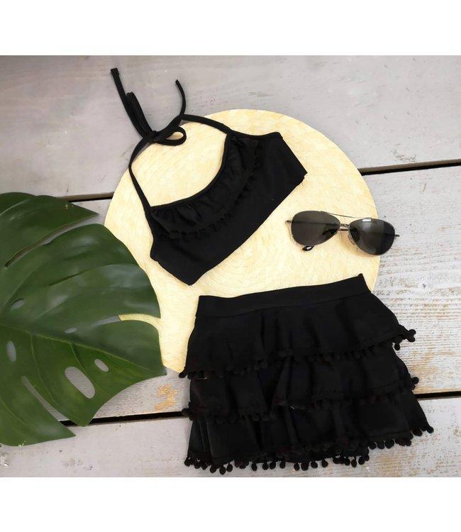 Pom bikini | Zwart