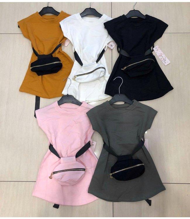 Dress with bag | 3 kleuren