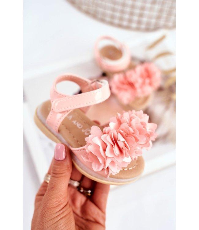 Light flower sandals