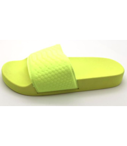 Dames neon slippers | Yellow