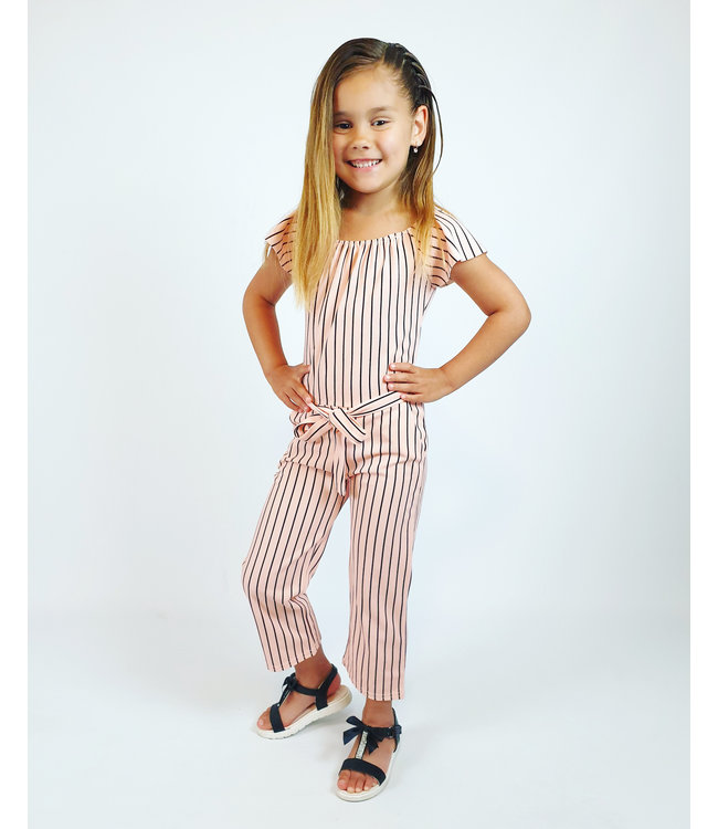 Stripe jumpsuit   pink