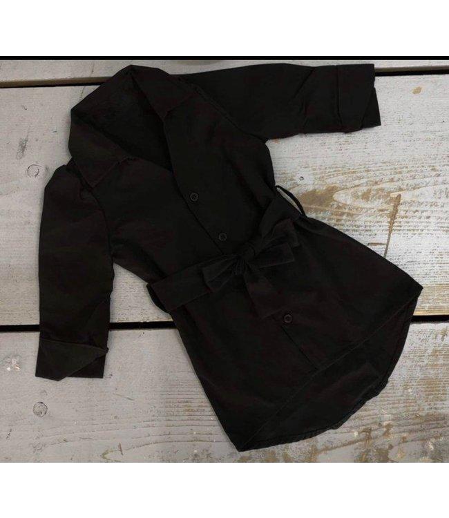 Blouse dress | Zwart