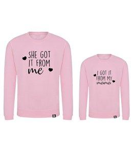 Twinning hoodies | She got it from me