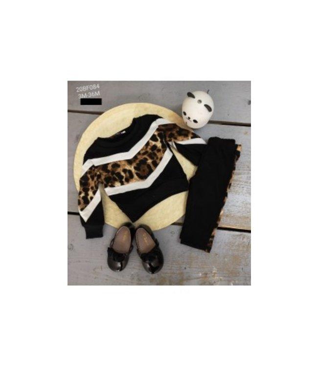 Leopard comfy set | black