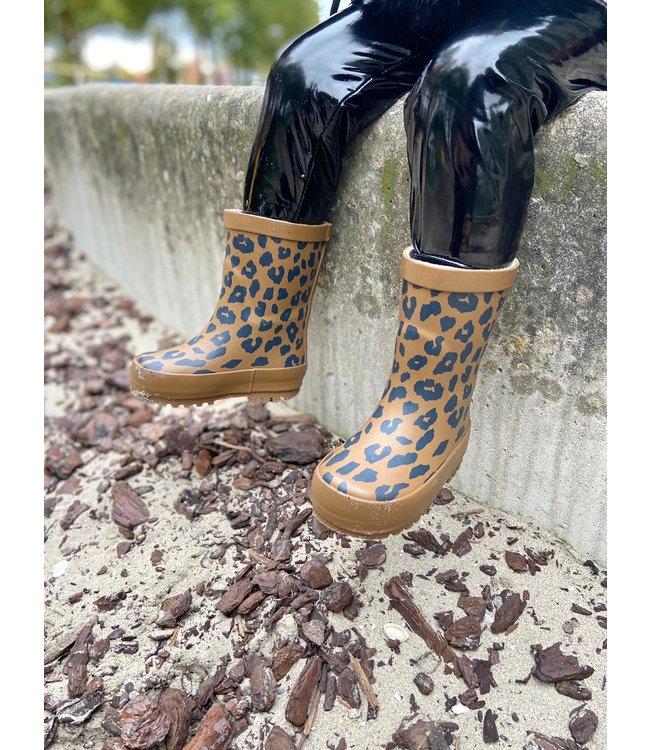 Leopard rain boots | brown
