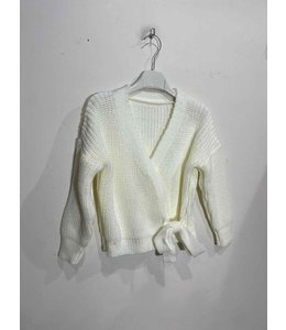 Knotted vest | White