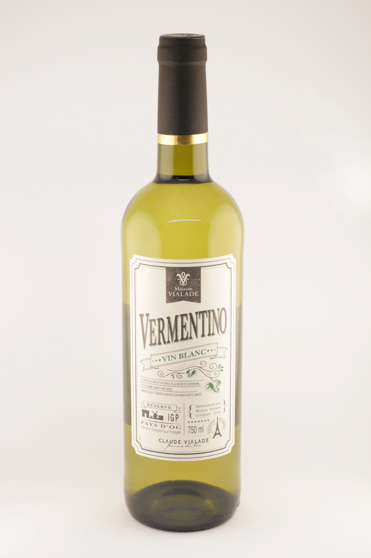 Claude| Vin Blanc Reserve | Maison Vialade | 2018 | Pay D'Oc | Vermentino
