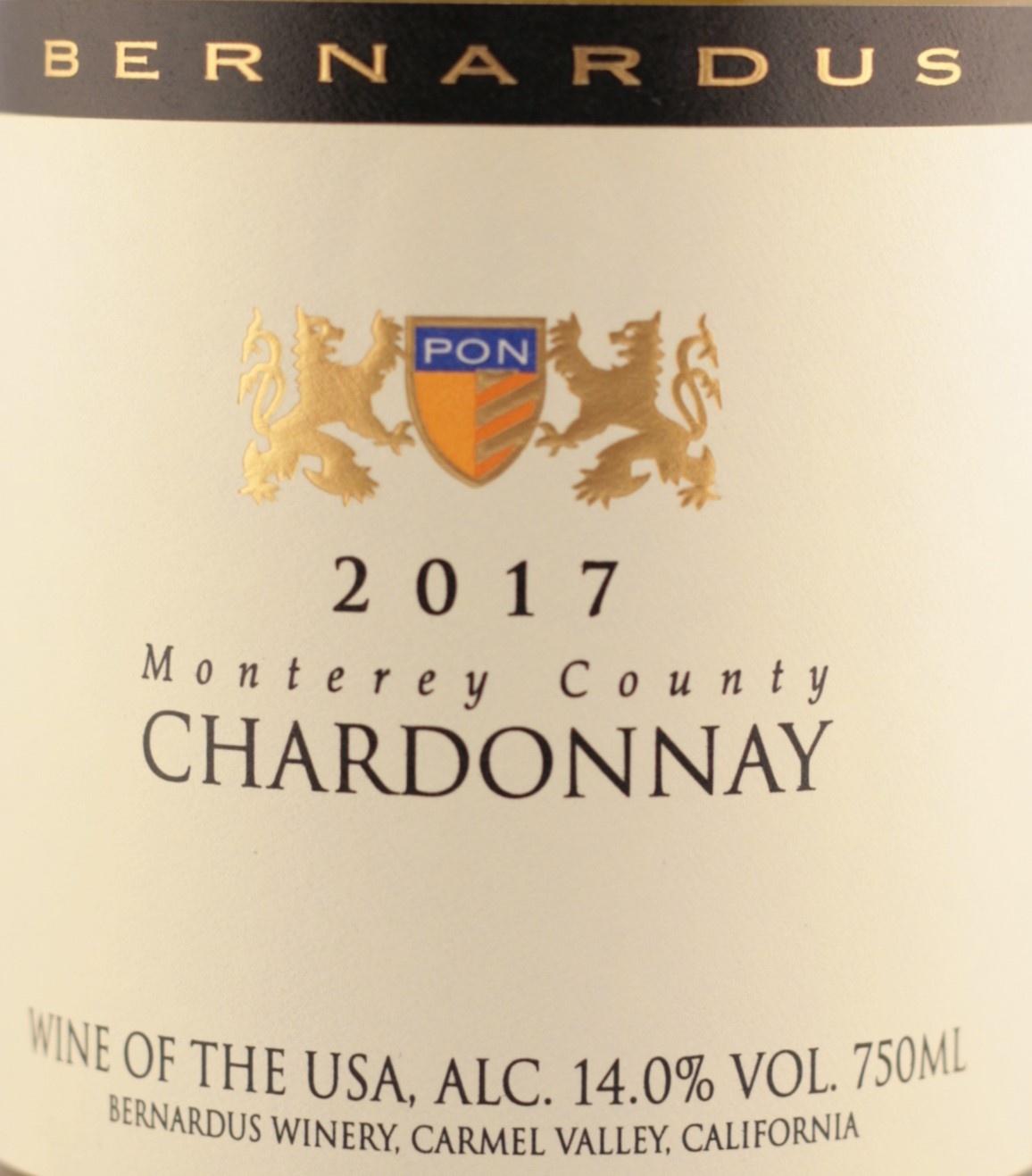 Bernardus Winery | 2017 | Monterey County| USA | Chardonnay